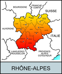 Régions françaises: Rhône-Alpes
