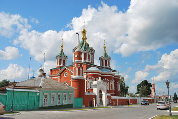 Krestovozdvizhensky cathedral in Kolomna in the summer
