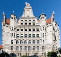 Neues Rathaus, Leipzig, Sachsen, Deutschland, Europa
