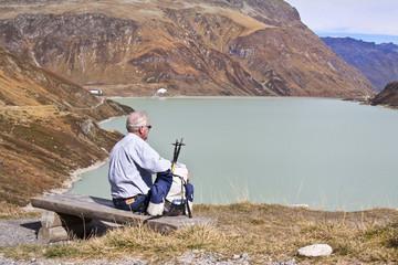 Rentner in den Alpen