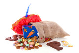 Dutch Sinterklaas celebration with chocolate and  gingernuts and