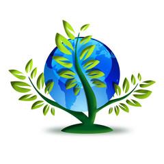 set of green recycling symbols