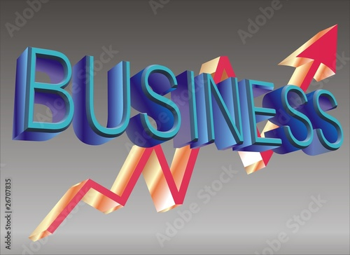 Business & Graph Word in 3d effect