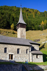 church in swiss mountains