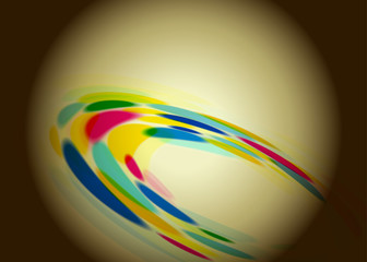 Abstract retro background with a colored rotating circles
