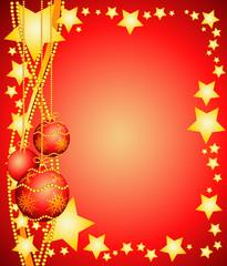 Sfondo natalizio con decorazioni, verticale