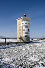 Cuxhaven Radarturm im Winter