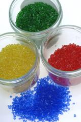 Farbiges Kunststoffgranulat