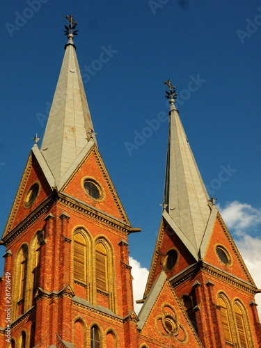 Two church towers