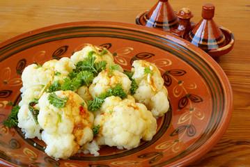 Moroccan cauliflower with Chermoula