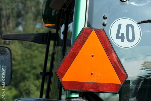Warning triangle on tractor - 26721624