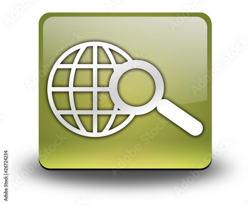 "Yellow 3D Effect Icon ""Search"""