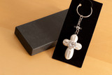 White Ivory Baptism Cross Gift