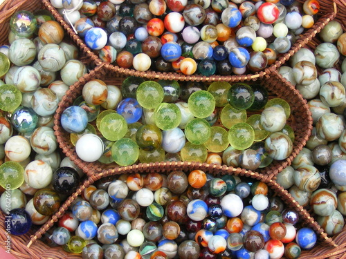 Marbles in a basket