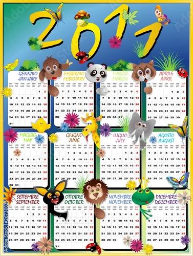 calendario 2011 brasil. 2011 Calendario Animali