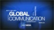 Global communication tag cloud headlines animation