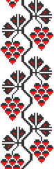 embroidered good like handmade cross-stitch pattern