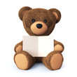Teddy bear with greeting card