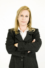 blond businesswoman portrait