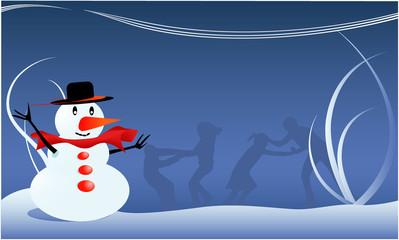Snowman - Winter illustration