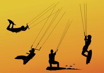 kitesurfers