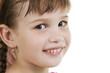 Fan little girl smiling.