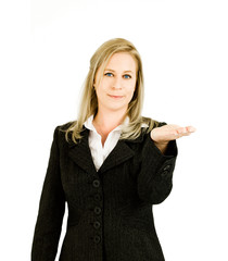 Business woman palm