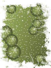 frostige Weihnachstkarte grün