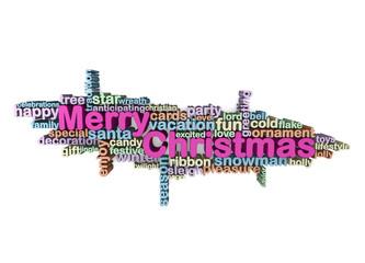 merry christmas typograhic