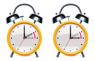 Vector daylight saving time illustration