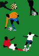 soccer players illustration