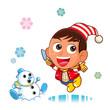 雪遊び002(お正月)