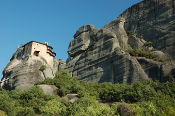Agios Nikolaos rock monastery at Meteora,Greece,Balkans