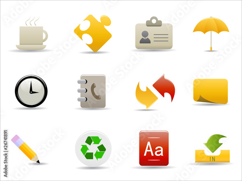 office and internet icons set