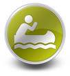 "Yellow Glossy Icon ""Canoeing"""