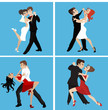 romantic couple dance