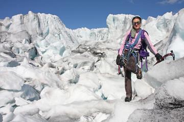 Alpiniste en Norvège