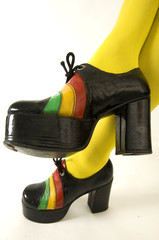 Funky retro 1970's platform shoes