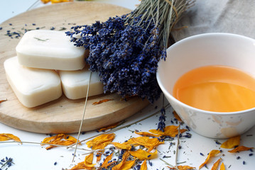 Natural lavender and calendula soap