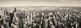Manhattan z lotu ptaka – panorama w stylu vintage