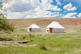 Two Kazakh yurt
