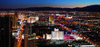 Las Vegas skyline panorama at night