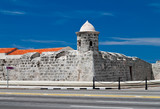 The old colonial castle of La Punta in Havana, Cuba
