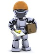 robot in hardhat with clipboard
