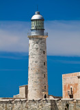 View othe lighthouse tower in El Morro in Havana, Cuba
