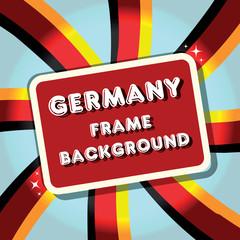 Germany Background banner flag border