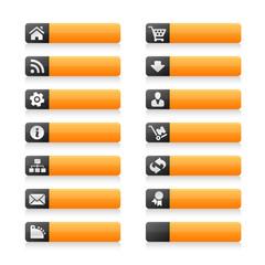 Orange Black Web Buttons