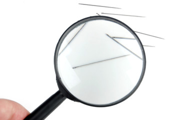 Magnifier with needle