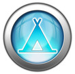 """Glossy 3D effect button """"Camping Symbol"""""""