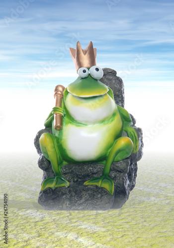 Foto op Plexiglas Draken Frog King